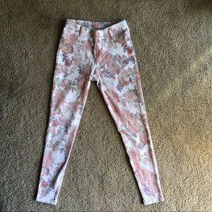 Faded glory floral pants